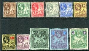BARBADOS-1912-16  A mounted mint set to 1/- Sg 170-180