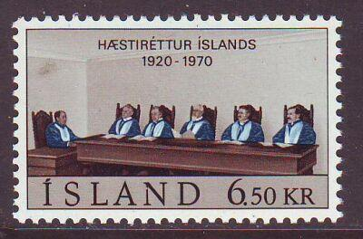 Iceland Sc 416 1970 Supreme Court stamp mint NH