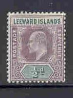 Leeward Islands  Sc 20 1902 1/2d E VII stamp mint