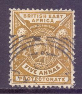 KUT British East Africa Scott 80 - SG72, 1896 Victoria 5a used