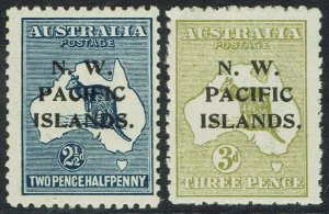 NWPI NEW GUINEA 1918 KANGAROO 21/2D AND 3D 3RD WMK
