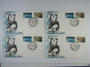 4 unaddressed 1971-72 covers 10th anniv. Antarctic Treaty #L19-20  VF