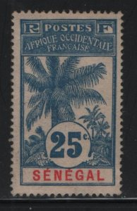 SENEGAL, 64, HINGED, 1906, STAMPS OF 1892 SURCHARGED