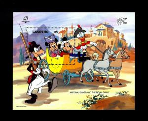 LESOTHO - 1989 - DISNEY - MICKEY - ROYAL FAMILY - FRANCE - MINT - MNH S/SHEET!