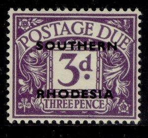 SOUTHERN RHODESIA GVI SG D4, 3d violet, M MINT.