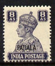 Indian States - Patiala 1941-46 KG6 8a slate-violet unmou...
