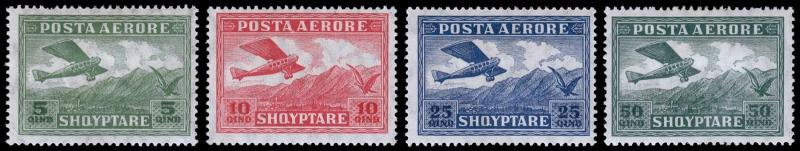 Albania Scott C1-4 (1925) Mint H F-VF, CV $10.25
