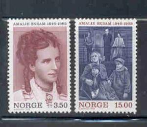 Norway Sc 1139-40 1996 Amalie Skram stamp set