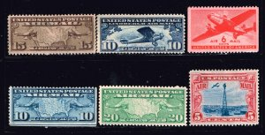 US STAMP AIR MAIL UNUSED NG STAMPS COLLECTION LOT