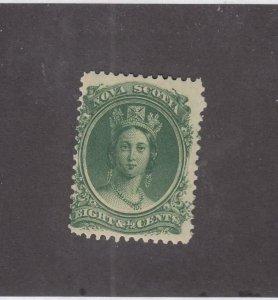 NOVA SCOTIA (MK4559)  # 11  FVF-MNH  8 1/2cts  VICTORIA //GREEN // CAT VALUE $30
