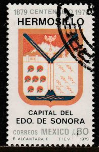 MEXICO 1177 Centenary of Hermosillo as Capital of Sonora USED. VF. (682)