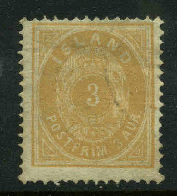 Iceland  Scott #15 Facit #8 Used  Cats $35