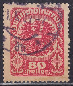 Austria 238 Coat of Arms, Greyish Paper 1920