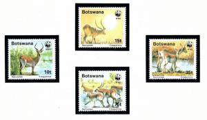 Botswana 432-35 MNH 1988 W.W.F. set