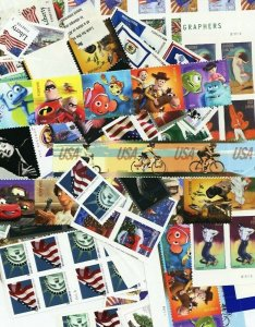 100 Mint Usable Forever Stamps - Selling at LESS than Face Value of $55.00 ***
