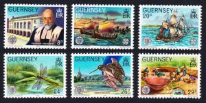 Guernsey Birds Dragonflies Ships Europa CEPT Societe Guernesiaise 6v 1982