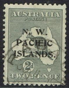 NWPI NEW GUINEA 1915 KANGAROO 2D 3RD WMK USED