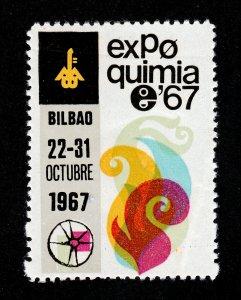 REKLAMEMARKE POSTER STAMP SPAIN EXPOQUIMIA 67 BILBAO (MNH-OG)