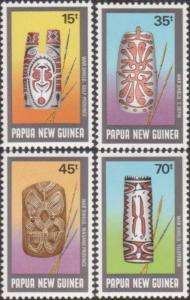 Papua New Guinea 1987 SG558-561 War Shields set MNH