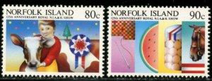 NORFOLK IS. Sc#371-372, 372a 1985 Agriculture Show Set & S/S OG Mint NH