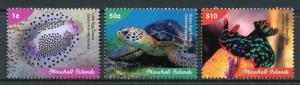Marshall Islands Marine Life Stamps 2018 MNH Definitives Part I Turtles 3v Set