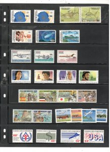 MICRONESIA COLLECTION ON STOCK SHEET, ALL MINT, MOSTLY MNH