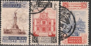 MEXICO 771-773, 400th Anniv of Guadalajara. USED. VF. (962)