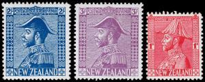 New Zealand Scott 182-184 (1926) Mint LH/H VF Complete Set, CV $201.25 M