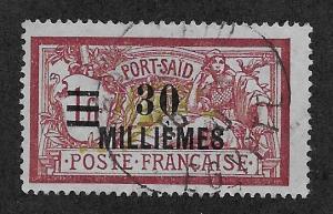 FRENCH OFFICES - PORT SAID SC# 78  FVF/U 1921