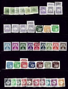 WW21 46 stmps few dups; all Bohemia-Moravia; H;Used;CTO