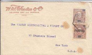 1905, Delagoa Bay, Lourenco Marques to New York City (12443)