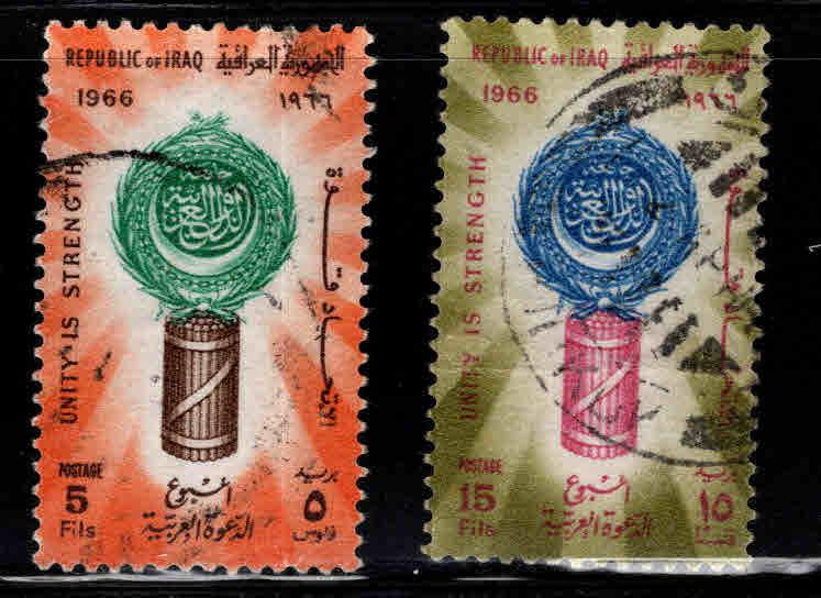 IRAQ Scott 401-402 Used 1966 Arab League set
