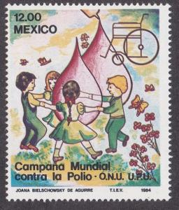Mexico # 1345, Children Dancing, Cure for Polio, NH 1/2 Cat.