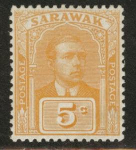 SARAWAK Scott 57 MH* 1923 no watermark CV $2