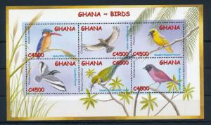 [30034] Ghana 2002 Birds Vögel Oiseaux Ucelli  MNH Sheet