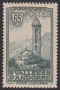 French Andorra 41 MLH (see Details) CV $55.00