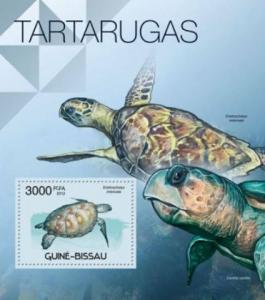 Guinea-Bissau MNH S/S Turtles Reptiles 2012