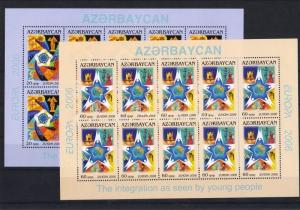 Azerbaijan stamp Europa CEPT mini sheet set MNH 2006 Mi 638 A - 639 A WS14804
