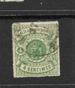 LUXEMBOURG  1865-71  4c  ARMS  FU  ROULETTE  Sc 16