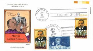 #1771 Martin Luther King Jr. Collins FDC - T102