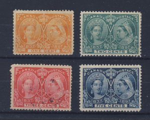 4x Canada Jubilee stamps #51-1c #52-2c #53-3c #54-5c Guide Value = $113.00