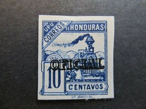 A4P11F13 Honduras Official Stamp 1898-99 10c mint no gum old forgery