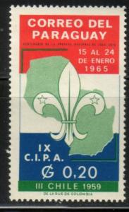 Boy Scout Jamboree, Chile,1959, Paraguay stamp SC#852 MNH