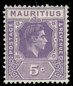 MAURITIUS SG255a, 5c pale lilac, LH MINT.