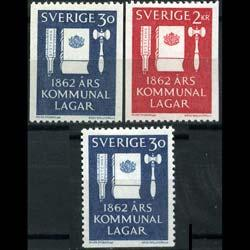 SWEDEN 1962 - Scott# 610-2 Reform Law Set of 3 LH