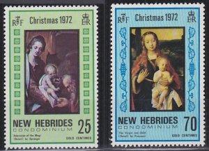 New Hebrides - British Issues 149-150 MNH (1971)