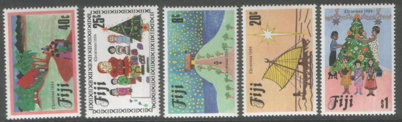 FIJI 1984 Xmas never hinged mint SG688/92 cat £2.50 = $5