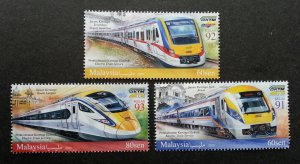 *FREE SHIP Malaysia Train ETS 2018 Locomotive Railway Transport (stamp MNH