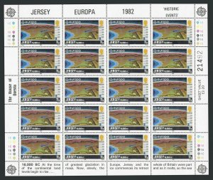 Jersey 285-288 sheets,MNH. EUROPE CEPT-1982.Maps:formation of Canal Islands.