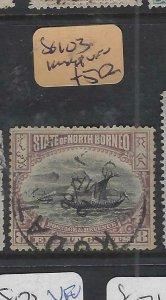 NORTH BORNEO  (P2601B)  8C  BOAT  SG 103  KUDAT  CDS  VFU